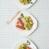 Green Potato salad and sausages