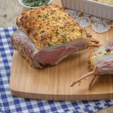 Feta-crusted rack of lamb