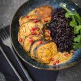 Baked aubergine curry