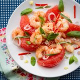 Asian Prawn and Grapefruit Salad