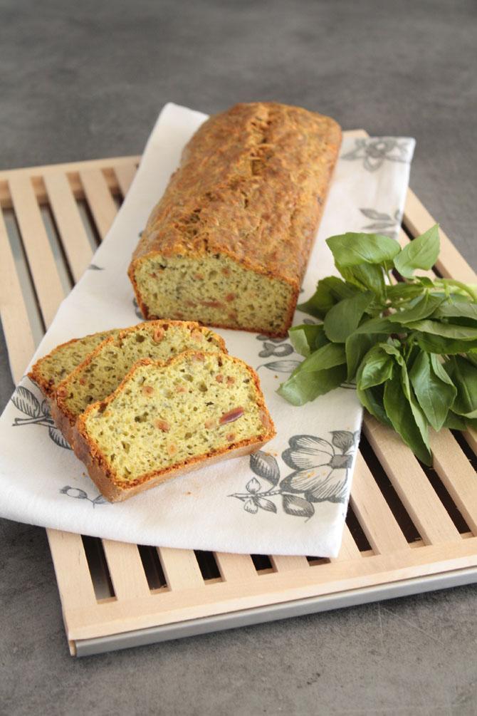 Pesto Pine Nut Cake