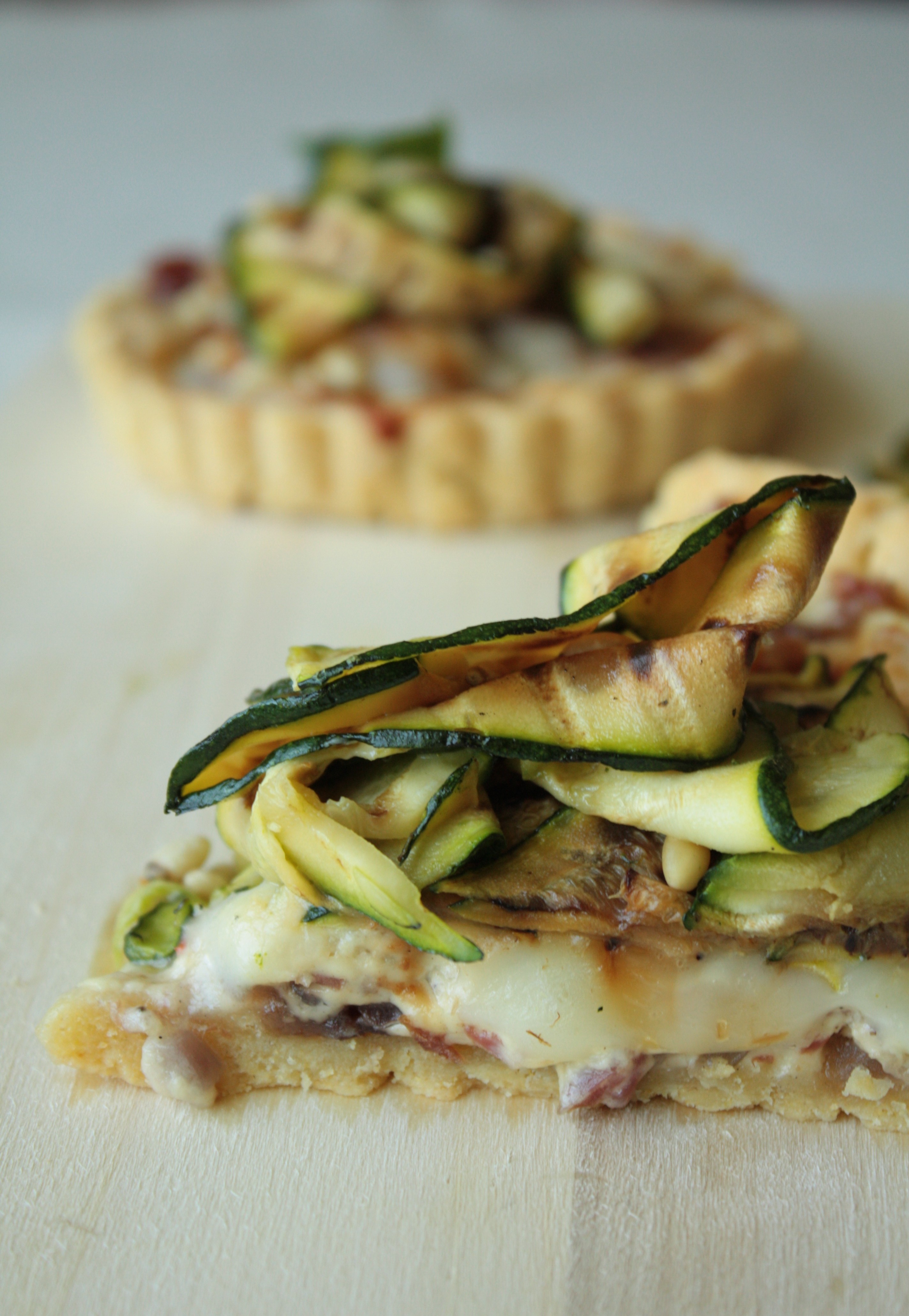 Courgette and Taleggio Tart with Polenta Pastry | Anne's Kitchen