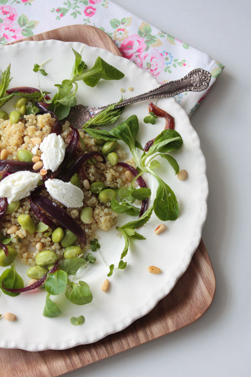 Quinoa and Broadbean Salad