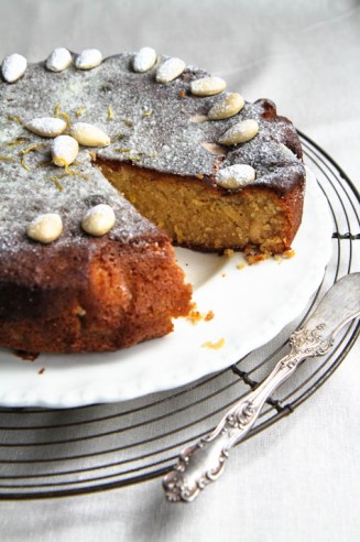 Lemon Almond Cake with Honey