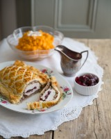 Turkey Wellington with Cranberry Sauce