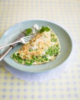 Pea and Mint omelette with Feta