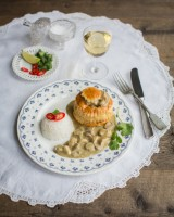 Thai green curry vol-au-vents