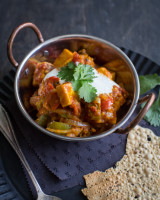 Spicy paneer jalfrezi curry