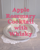 Apple Rosemary Cocktail