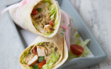 Satay Chicken Wrap