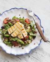 Greek halloumi salad