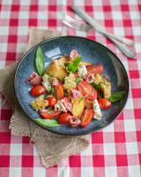 Italian panzanella salad