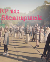 Steampunk convention and cooking in a hot air balloon